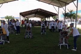 Alunos de Estética e Fisioterapia realizam ação no Estaleiro Atlântico Sul